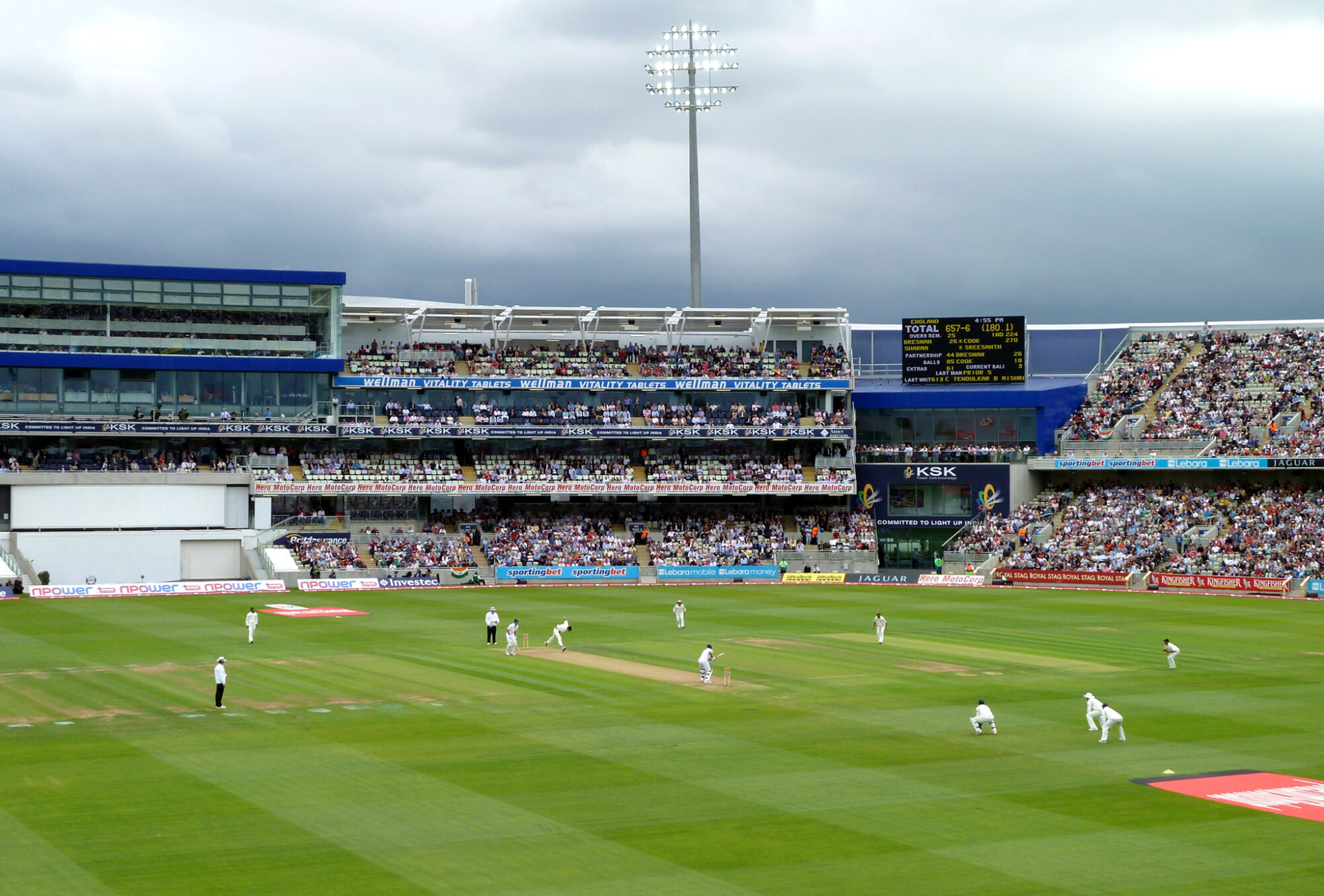 View from the north stand in Edgbaston Cricket Ground